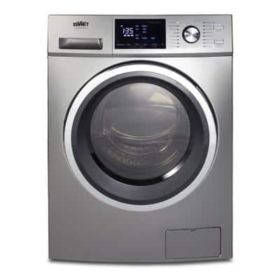24 in. 2.7 cu. ft. Platinum Electric All-in-One Washer Dryer Combo