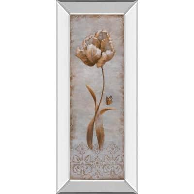 """""""Tulip and Butterfly Il"""" By Nan Mirror Framed Print Wall Art 18 in. x 42 in."""