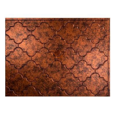 18.25 in. x 24.25 in. Monaco Vinyl Backsplash Panel in Moonstone Copper (5-Pack)