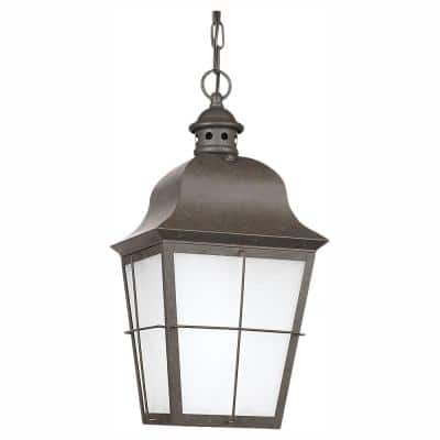 Chatham Ceiling Mount 1-Light Outdoor Oxidized Bronze Hanging Pendant Fixture