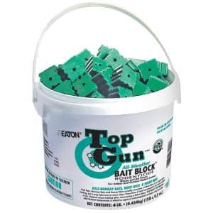 750 Top Gun Bait Block Rodenticide with Stop-Feed Action and Bitrex for Mice and Rats (128-Pack)