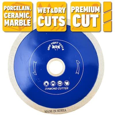 4 in. Premium Continuous Rim Tile Cutting Diamond Blade for Cutting Porcelain, Ceramic and Marble