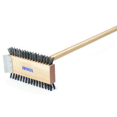 30.5 in. Carbon Steel Broiler Cleaning Brush with Scraper (Case of 6)