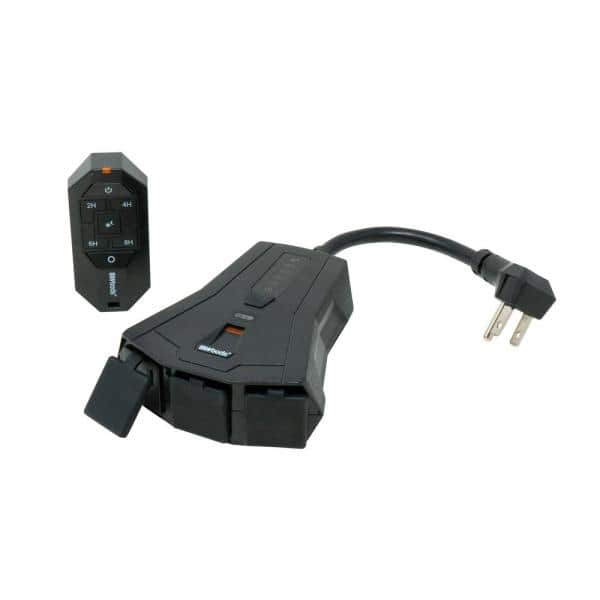 Woods Outdoor Lighting Mechanical Timer, Outdoor Timer For Lights With Remote