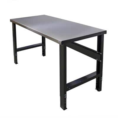 34 in. x 48 in. Adjustable Height Work Bench with Stainless Steel Top