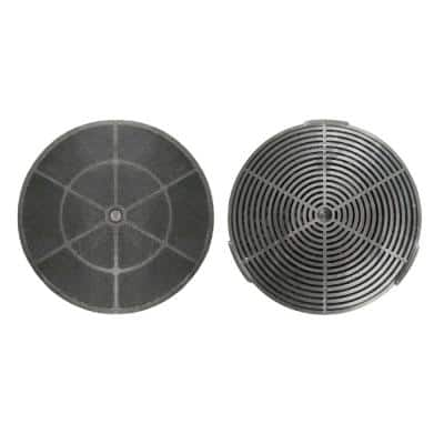 Range Hood Carbon, Charcoal Filters for Ductless, Ventless Recirculating Installation and Replacement (Set of 2)