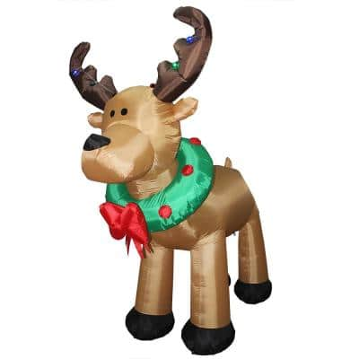 8 ft. Inflatable Reindeer with LED Lights