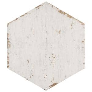 Retro Hex Blanc 14-1/8 in. x 16-1/4 in. Porcelain Floor and Wall Tile (48 Cases/530.4 sq. ft./Pallet)