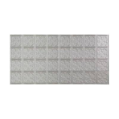Traditional #10 2 ft. x 4 ft. Glue Up Vinyl Ceiling Tile in Argent Silver (40 sq. ft.)
