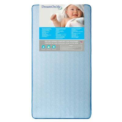 Moonlight Blue Crib and Toddler 130 Coil Mattress