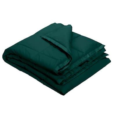 LaCrosse LoftAIRE Down Alternative Forest Green Cotton Throw Blanket