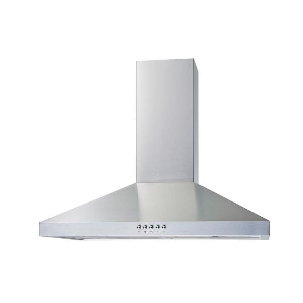 Winflo 30 In Convertible Wall Mount Range Hood In Stainless Steel With Mesh Filters And Push Button Control Wr003c30 The Home Depot