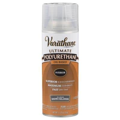 11 oz. Clear Semi-Gloss Oil-Based Interior Polyurethane Spray Paint (6-Pack)