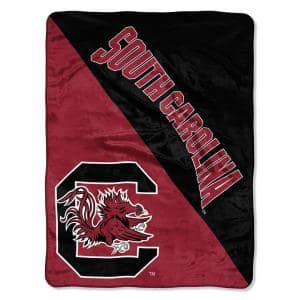 Halftone University of South Carolina Polyester Twin Knitted Blanket