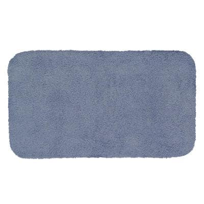 Legacy Wedgewood Blue 24 in. x 40 in. Nylon Machine Washable Bath Mat