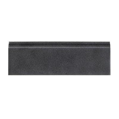 Basalt Gray 4 in. x 12 in. Honed Basalt Wall Base Tile (1 Linear Foot)