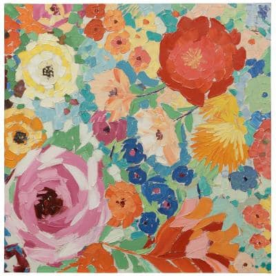 Floral Multicolored Canvas Wall Art