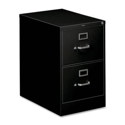 310 Series 26-1/2 in. D Black 2-Drawer with Legal Full-Suspension File