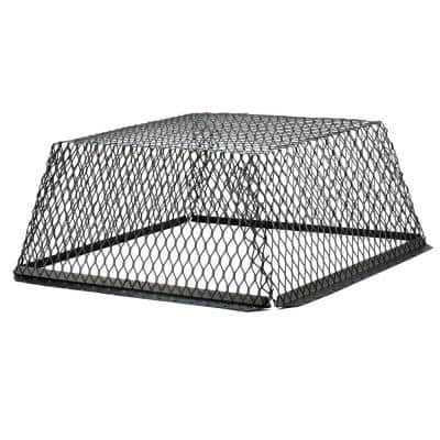 VentGuard 30 in. x 30 in. Stainless Steel Roof Wildlife Exclusion Screen in Black