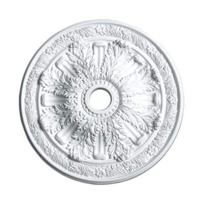 3-1/4 in. x 30 in. O.D. Acanthus Polyurethane Medallion Moulding