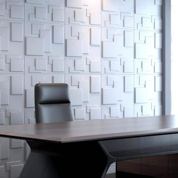 Art3d 19 7 In X 19 7 In White Pvc 3d Wall Panels Brick Wall Design 12 Pack A10033hd The Home Depot