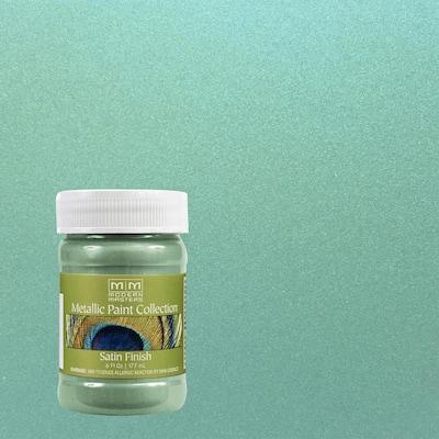6 oz. Teal Water-Based Satin Metallic Interior Paint