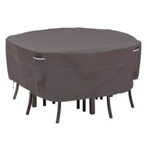 Ravenna 94 in. Dia x 23 in. H Round Patio Table and Chair Set Cover