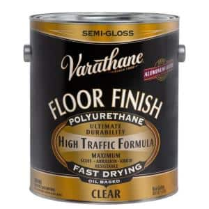 1 gal. Clear Semi-Gloss 350 VOC Oil-Based Floor Finish Polyurethane (2-Pack)