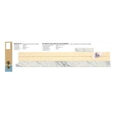 3/4 in. x 25-1/4 in. Laminate Endcap Kit in Calcutta Marble with Full Wrap Ogee Edge