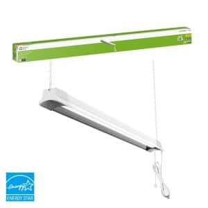 3.8 ft. 75-Watt Equivalent Integrated LED White Shop Light