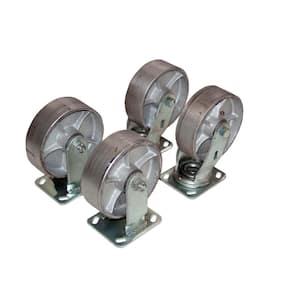 4,800 lb. Capacity 8 in. x 2 in. Semi-Steel Caster Kit - Set of 4
