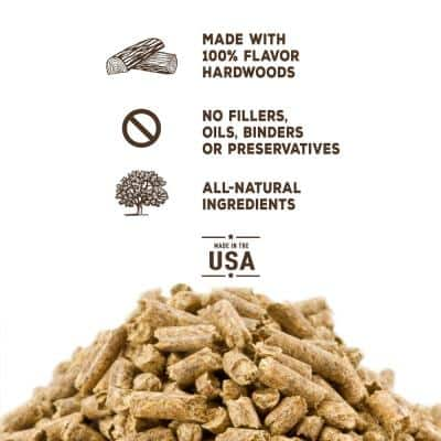 20 lbs. Hickory Wood Grilling Pellets (2-Pack)