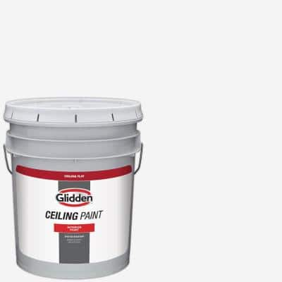 5 gal. White Flat Interior Ceiling Paint