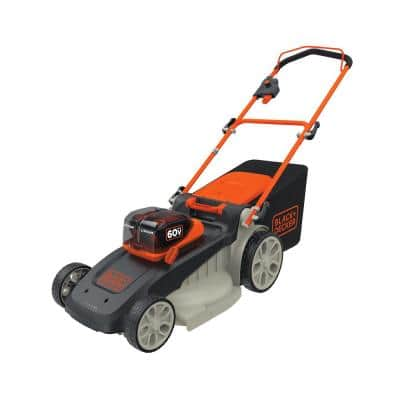 20 in. 60V Lithium Ion Cordless Walk Behind Push Mower with (2) 2.5Ah Batteries and Charger Included