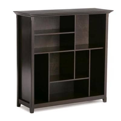 Amherst Solid Wood 44 in. x 44 in. Hickory Brown Transitional Multi Cube Bookcase and Storage Unit