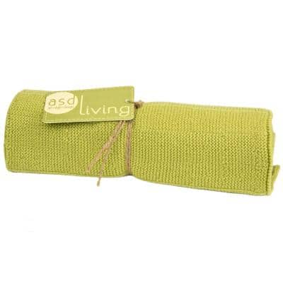 Knitted Kitchen Towel, Cactus Green