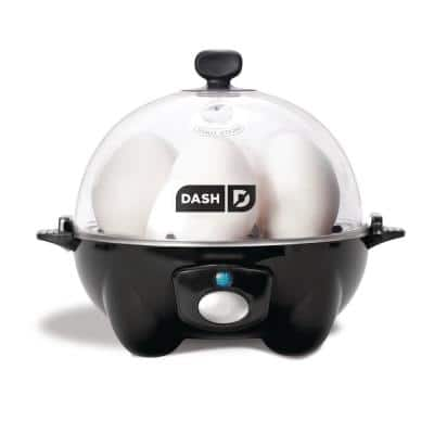 Rapid 6-Egg Black Egg Cooker