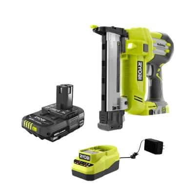 ONE+ 18V AirStrike 18-Gauge Cordless Narrow Crown Stapler  and 2.0 Ah Compact Battery and Charger Starter Kit