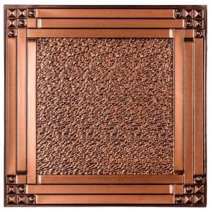 Genoa 2 ft. x 2 ft. Lay-in or Glue-up Ceiling Tile in Antique Copper (48 sq. ft. / case)