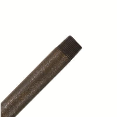 Hang-Tru Perma Lock 60 in. Aged Bronze Extension Downrod for 14 ft. ceilings