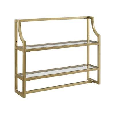 Aimee 24 in. Wall Shelf in Soft Gold