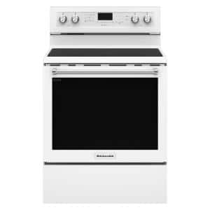 6.4 cu. ft. Electric Range with Self-Cleaning Convection Oven in White