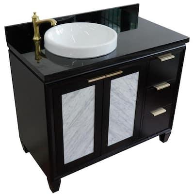 42 Inch Vanities Black Bathroom Vanities Bath The Home Depot