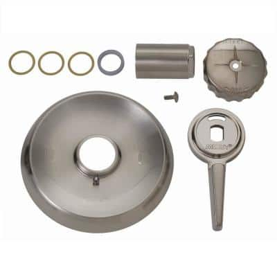 1-Handle Tub and Shower Faucet Trim Kit for Mixet Non-Pressure Balanced Valves in Satin Nickel (Valve Not Included)