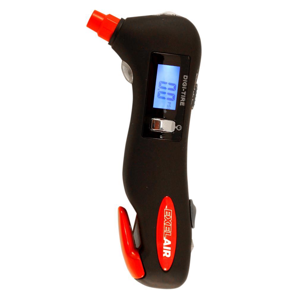 5-in-1 Tire Pressure Gauge and Emergency Tool