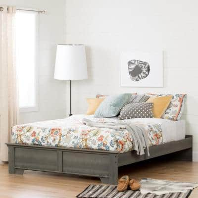 Versa Queen-Size Platform Bed in Gray Maple