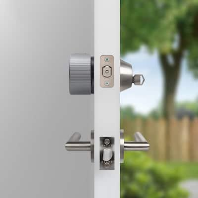 Wi-Fi Smart Lock Silver Single Cylinder Deadbolt