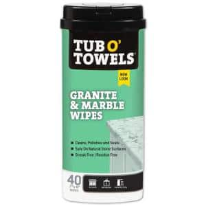 Granite and Marble Cleaning Wipes (40-Count)