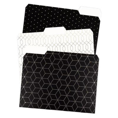 """Modern Classic Fashion File Folders, 2"""" Expansion, Letter Size, (24-Pack)"""