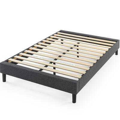 Curtis Grey Full Upholstered Platform Bed Frame